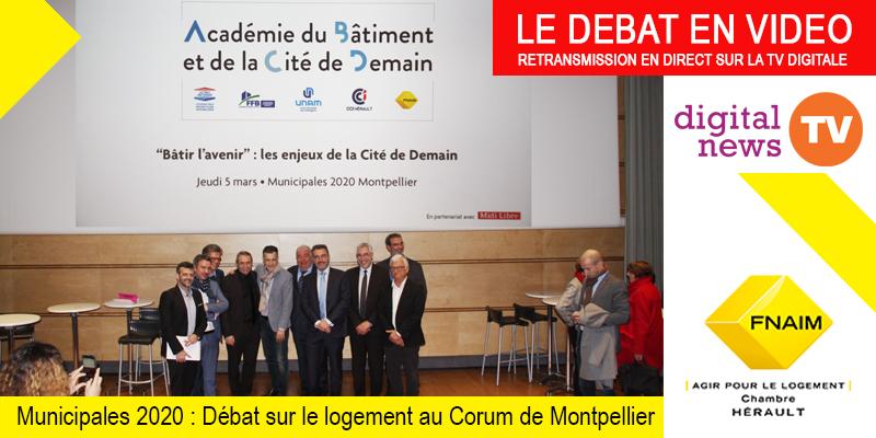 Débat municipale organisé par L'ABCD : « Bâtir l'avenir : les enjeux de la cité demain » au Corum à Montpellier