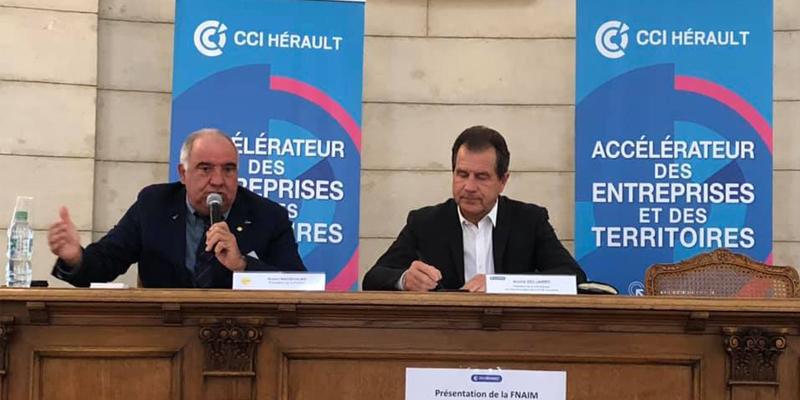 La FNAIM 34 présente les offres de services à la CCI Hérault