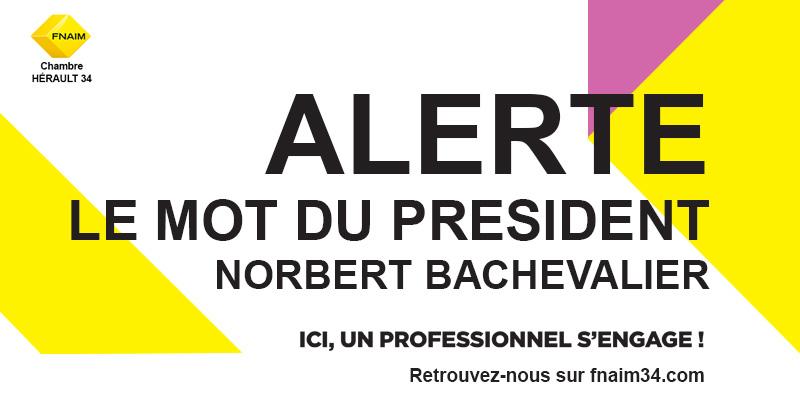Alerte coronavirus : le mot du président de la chambre 34 Hérault