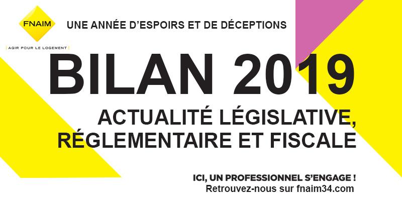 Le bilan 2019 de l'actualité législative