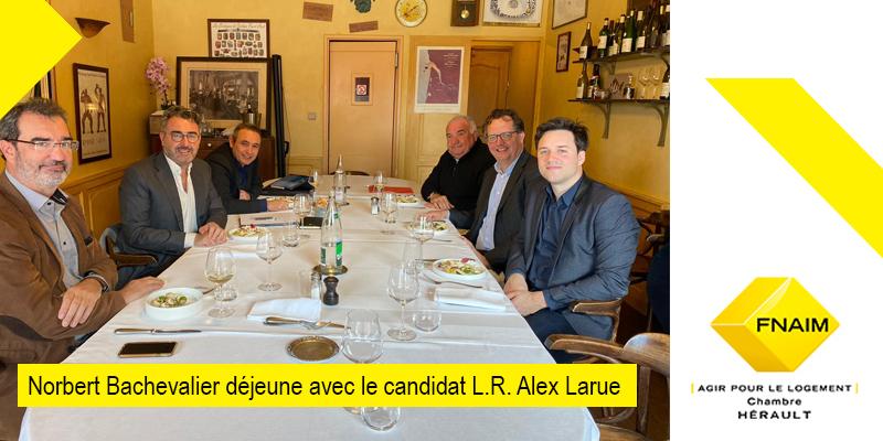Norbert Bachevalier président de la chambre Hérault 34 avec Alex Larue le candidat Les Républicains