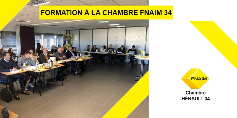 Formation accueillie au sein de la chambre FNAIM 34