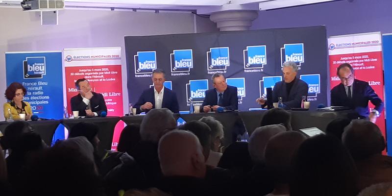 Débat municipal à Sète avec Xavier Bringer et Norbert Bachevalier représentants de l'ABCD